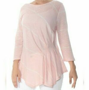 Vince Camuto Pink Striped Top